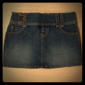 Medium Wash Blue Jean Mini Skirt By SO Sz 5